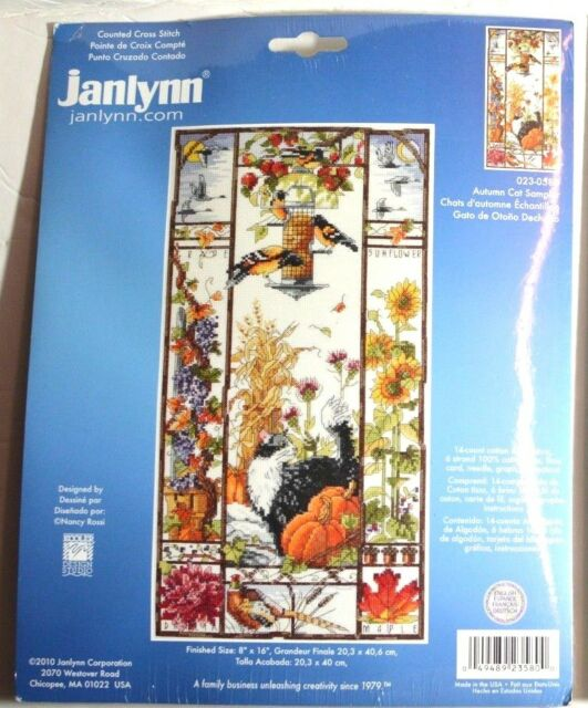 """14 Count Janlynn Counted Cross Stitch Kit 11/""""X14/""""-Crescent Moon Sampler"""