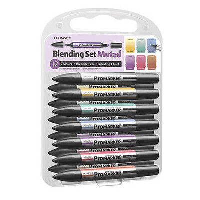 Letraset Promarker Pen 12 Pen Set 2 PMT2 Blender