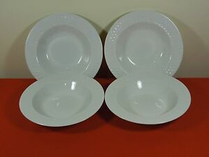 4-SAKURA-BASKETWEAVE-RIMMED-SOUP-CEREAL-BOWL-ONEIDA-CASUAL-DINING