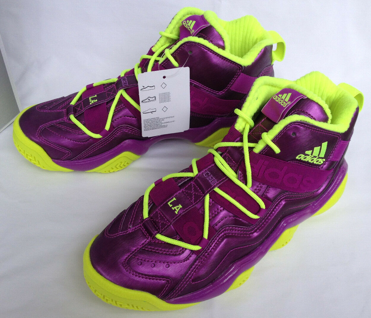 Adidas Top Ten 2018 CHI NYC LA Lakers G59159 Basketball Shoes Men's 10.5 new
