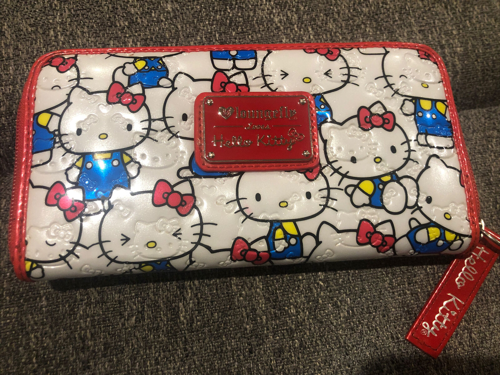 Hello Kitty Wallet Loungefly, vintage Authentic And Rare! White, Red And Blue