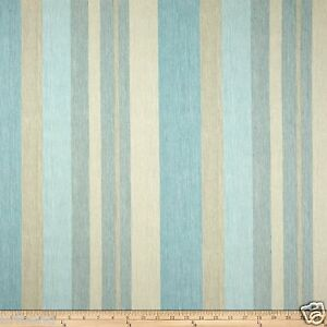 Image Is Loading Striped Cotton Fabric By The Yard Blue Stripe
