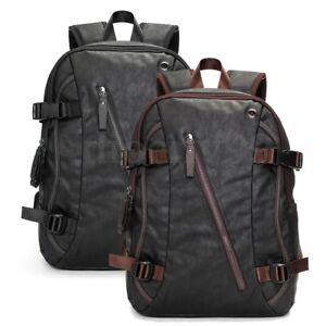 AU-Men-039-s-Vintage-Leather-Backpack-Rucksack-Travel-Satchel-Laptop-School-Bag-New