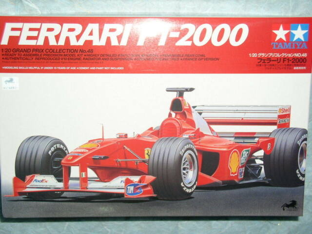 Tamiya 1/20 Ferrari F1-2000 F1 Model GP Car Kit #20048