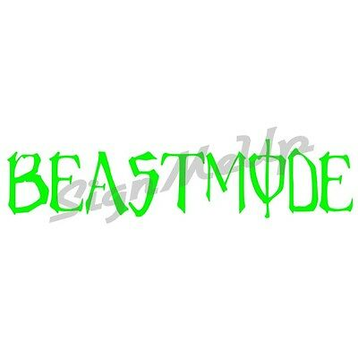 """Beastmode 9"""" x 2"""" decal import sticker for car monster truck tuner or turbo"""