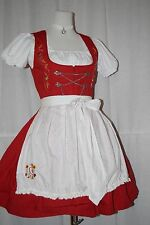 Stockerpoint Dirndl rot Traum-Dirndl bestickt + Original Bluse & Schürze Gr 36