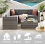 miniatura 2 - Evre MONACO Rattan Mobili da Giardino esterno divano impostato con tavolino