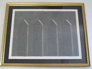 VINTAGE-POP-OP-ART-SCULPTURE-BLACK-MESH-MODERNISM-ABSTRACT-MODERNISM-SIGNED-BDEL