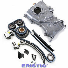 """Fits 93-97 Nissan Altima 2.4L Dohc Timing Cover Chain Kit Oil Pump """"KA24DE"""""""