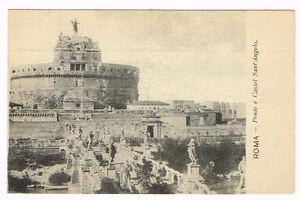 Vintage Postcard Italy 1900 ROMA ROME PONTE E CASTEL SANT ...