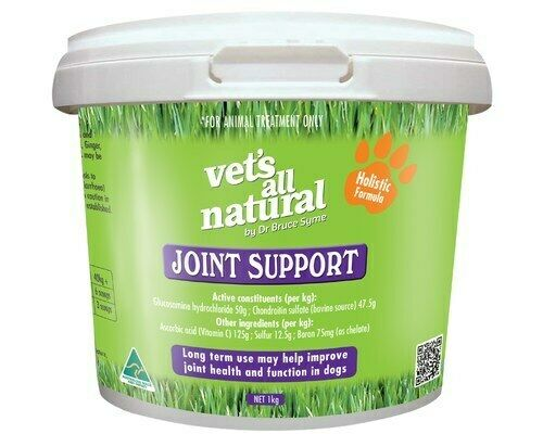 Vets All Natural Joint Support Powder Dog Puppy Bone Supplement - 1kg (DVJS1)