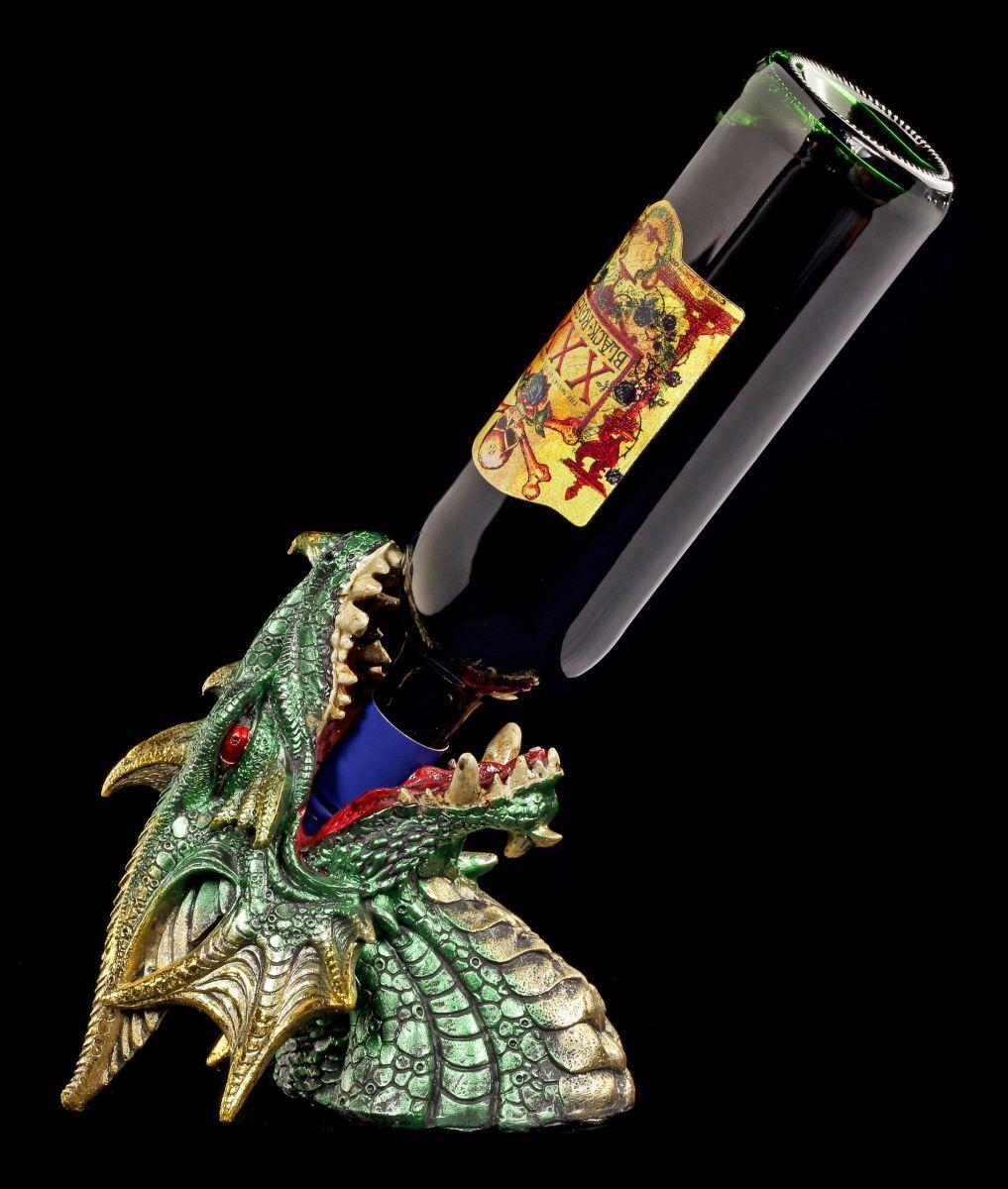 Dragons Porte-Bouteilles - Tout sur Einmal - Figurine Tête Support Fantasy