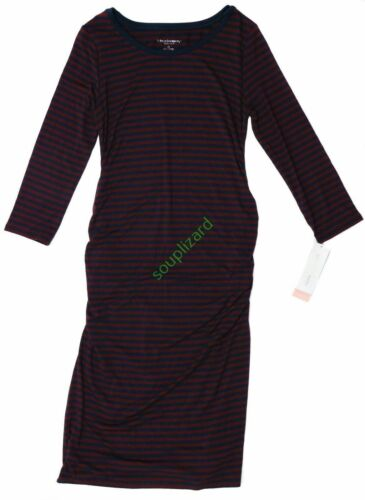 New Women/'s Maternity Clothes Shirt Dress Red Navy NWT Liz Lange Size XXL