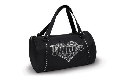 NEW Dance Bag Duffle Rhinestone Black Silver Ballet Tap Jazz Hip Hop Medium