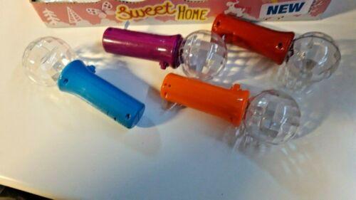 blau 2 Stück Handspielzeug mit LED-Farbwechsel und Blinkeffekt NEU Messeware