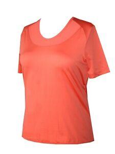 Schneider Sportswear Damen Stretch Sportshirt Shirt Pulli T-Shirt Lachs Gr. 36