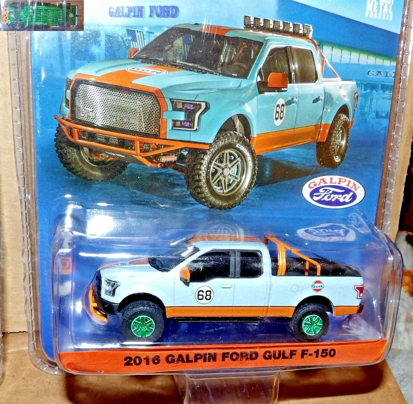 Grünlight Galpin Ford F150 2016 Gulf 1 64 51088 Grün CHASE promo