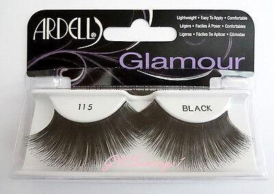 NIB~ Ardell Glamour Lashes #115 False Eyelashes AUTHENTIC LONG Black Dramatic