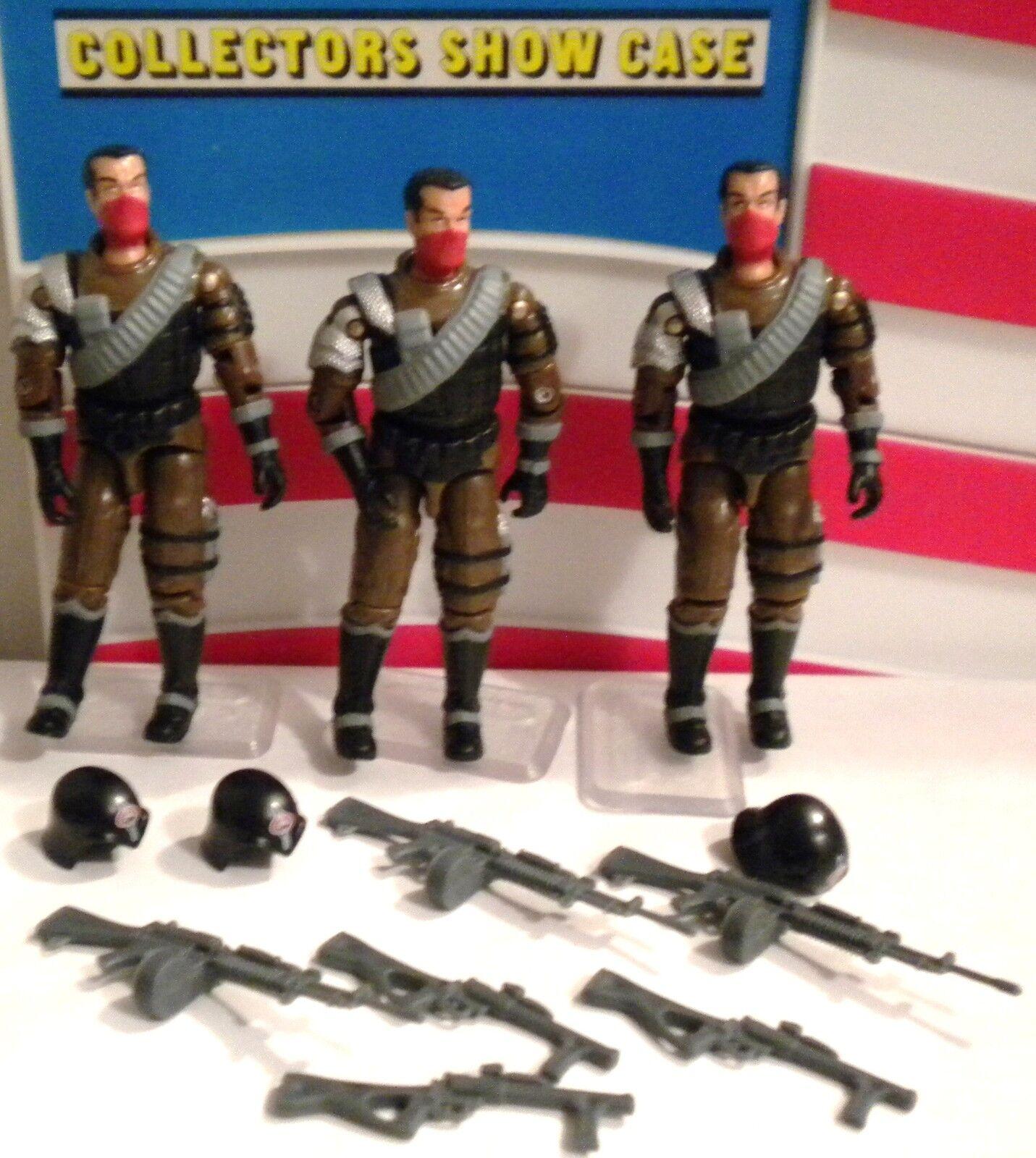 GI JOE  3 SKULL SKULL SKULL SQUAD TROOPERS 2006 CONVENTION  ARMY blueDD  100% JOECON 539460