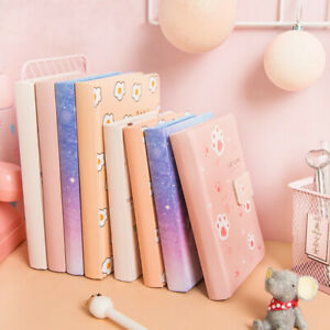 A5-PU-Leather-Cute-Journal-Notebook-Lined-Paper-Diary-Planner-256-Pages