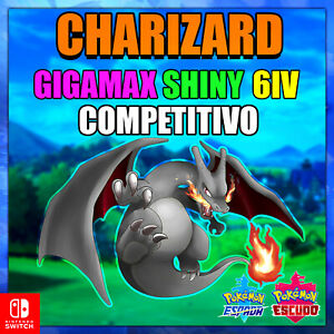 Charizard-6ivs-034-Ultra-Shiny-or-not-034-Gigamax-competitivo-Pokemon-Espada-y-Escudo