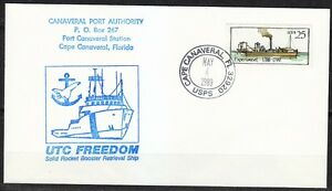 United-States-1989-FDC-cover-Steam-boat-Experiment-Canaveral-Port