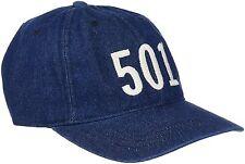 MENS LEVIS 501 LIGHT DENIM BASEBALL CAP 224337- DARK BLUE DENIM