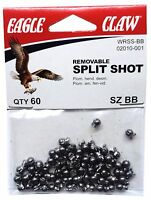 Split Shot Sinkers, Size Bb, Removable, 12 Packs With 60 Per Pk=720 Total Ss-bb
