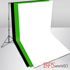 Photo-Studio-2-8x3m-Stand-3x6m-Muslin-Cotton-Black-White-Green-Backdrop-Screen