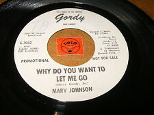 MARV JOHNSON - WHY DO YOU WANT TO LET ME GO - I'M NOT / LISTEN - MOTOWN POPCORN