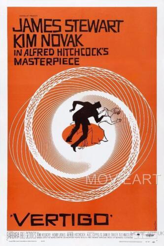 VERTIGO HITCHCOCK VINTAGE MOVIE POSTER FILM A4 A3 ART PRINT CINEMA ORANGE