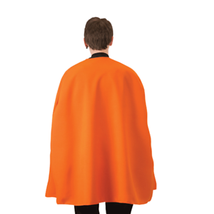 "Orange Superhero Cape 36/"" Adult Super Hero Costume Halloween Caped"