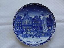 Weihnachts-Teller 2002 Wandteller Retsch Bavaria Porzellan Weihnachtsmarkt Römer