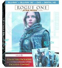 Rogue One A Star Wars Story Target Exclusive Blu-ray+3D Blu-ray+DVD w/ 5 Covers