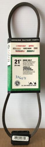 "MTD GENUINE MTD 21/"" Drive Belt OEM 954-04260 // 754-04260 NEW Troy-Bilt etc"