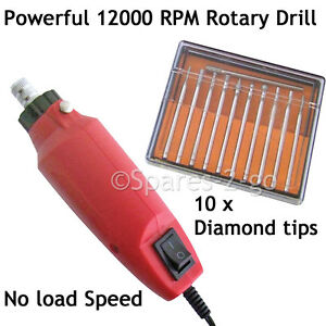 MINI ENGRAVER Engraving Rotary Drill Craft Glass Ceramic Metal Tool - 12000 RPM