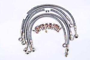 BMW 1999-2004 K 1200 LT ABS GALFER 6 LINE FRONT REAR BRAIDED BRAKE LINE KIT