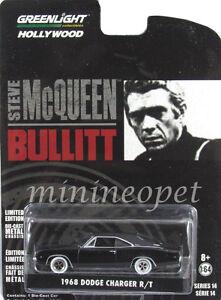 GREENLIGHT 44741 BULLITT 1968 68 DODGE CHARGER R//T 1//64 STEVE MCQUEEN BLACK