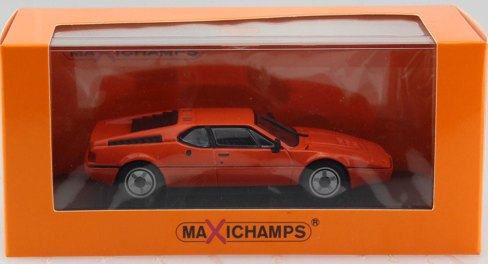 Bmw Bmw Bmw m1 1979 naranja 1 43 maxichamps maqueta de coche 940025020 c83e03