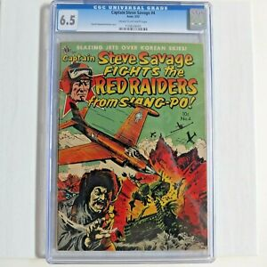 Captain-Steve-Savage-4-CGC-6-5-Kinstler-Cover-Golden-Age-comic-Avon-3-52-Precode