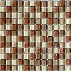 Glasmosaik Braun Beige Wellen 23 Granit Fliesenspiegel Mosaik Boden