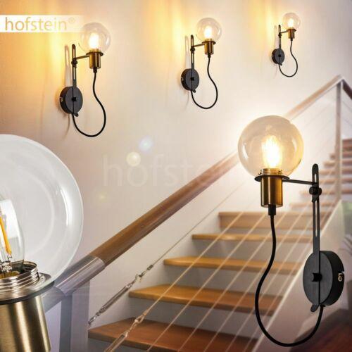 schwarz//gold Wohn Schlaf Zimmer Leuchten Wand Lampen Retro Flur Dielen Strahler