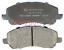 Bremsbelagsatz Scheibenbremse für Bremsanlage Vorderachse METZGER 1170133