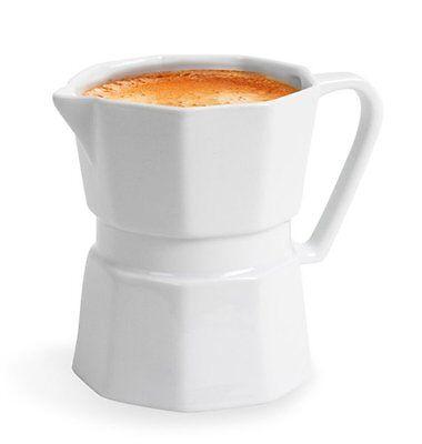 Balvi MOKA MUG - 350ml CeramicCOFFEE MAKER Shaped Mug CREAMER Milk JUG