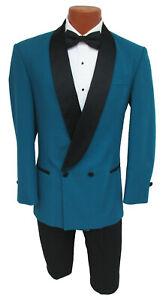 Vintage Mens Size 40S Red Corbett Double Breasted 2 Btn Shawl Tuxedo Jacket