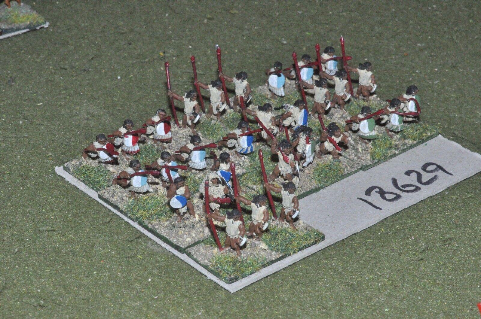 15mm renaissance   aztec - warriors 30 figures - inf (18629)
