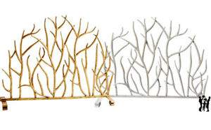 30 Decorative Twig Fireplace Screen In Antique White Or Italian Gold Ebay