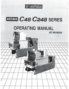 hamada c48 c248 operator manual 68 ebay rh ebay com Hamada Press Gears Hamada Press Gears