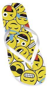 Suela de espuma PE señoras diseño de emoji Ojotas Con Correas Perlado