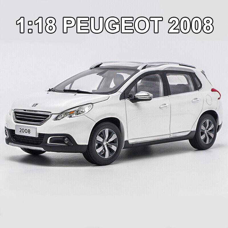1 18 Dongfeng Peugeot 2008 Sport Utility Vehicle Diecast Modelo Juguetes De Colección De Coche + Regalo gratis de pequeñas
